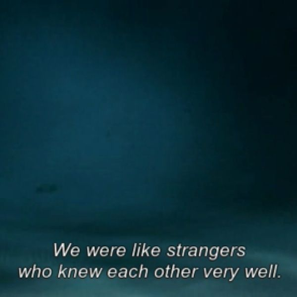 """We were like strangers who knew each other very well"" -Big Fish (2003) BIG FISH YES"