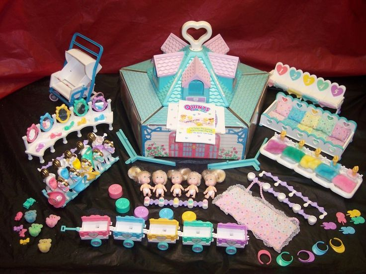 Vintage 1989 lot of Quints dolls and accessories, by Tyco ...