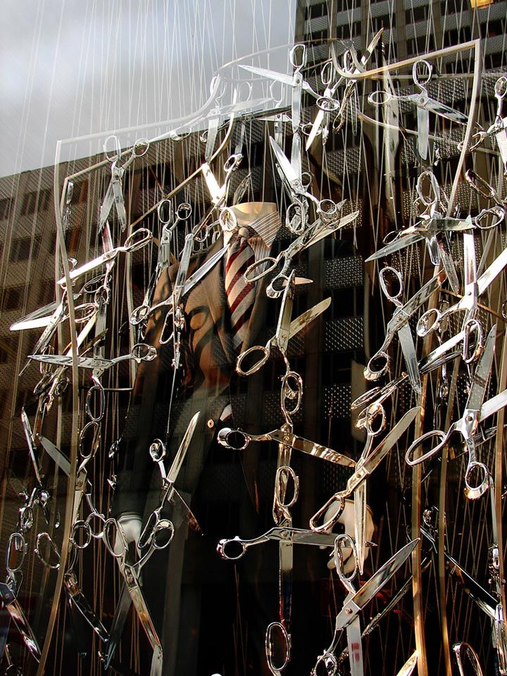 Ermenegildo Zegna window display, New York » Retail Design Blog