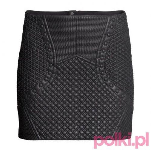 Czarna spódnica mini H&M #polkipl #moda