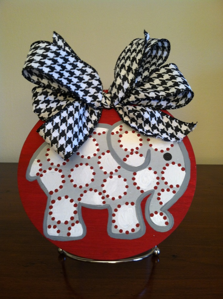 Alabama Handpainted Christmas Ornament, Door Hanger. $5.00, via Etsy.