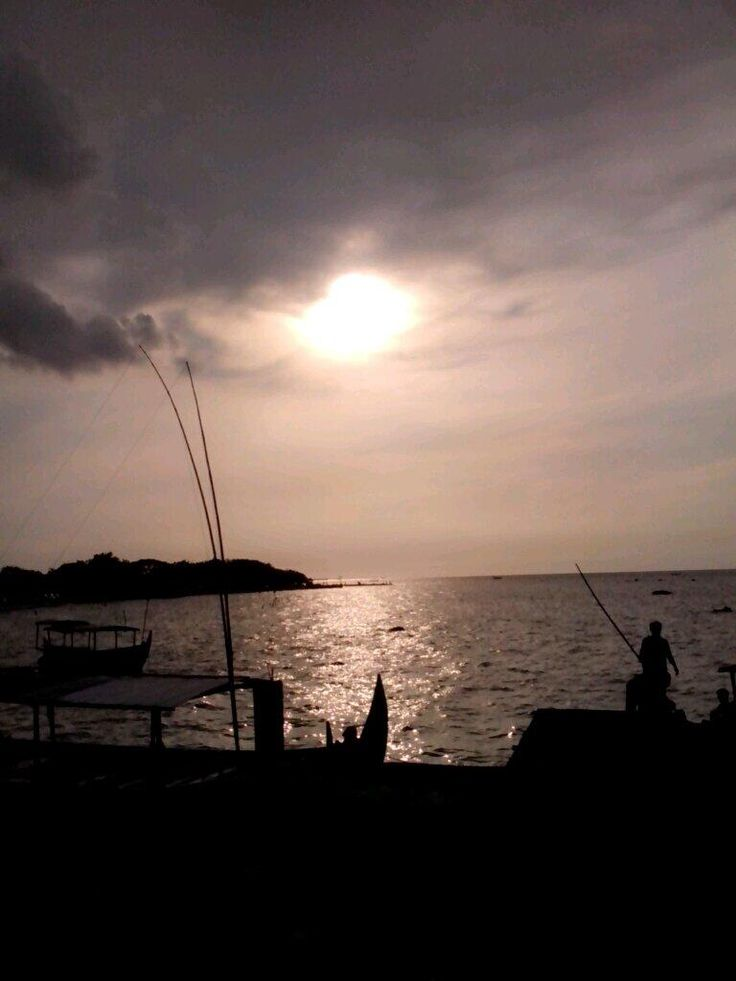 Sunset at north beach of Java