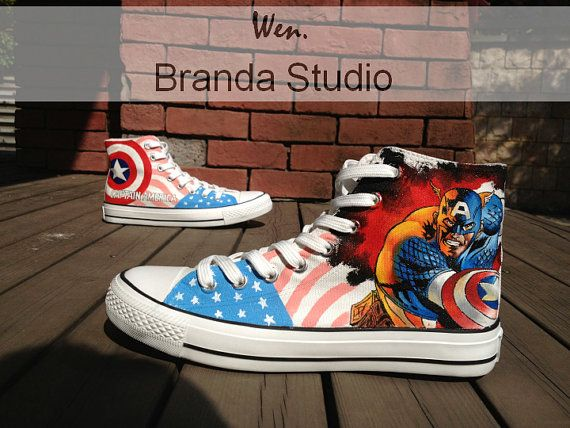 fetching how to design converse shoes at home. 2013 Captain America Studio Hand Painted Shoes High Top 55 99Usd Paint On  Custom 78 best Converse images on Pinterest sneakers