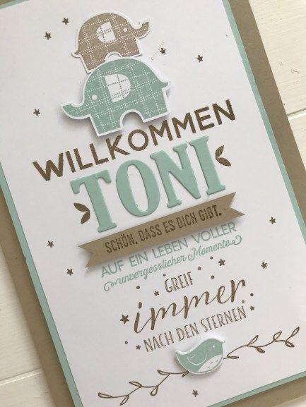 WILLKOMMEN KLEINER TONI – www.ScrapGöre.de – Britta Zain