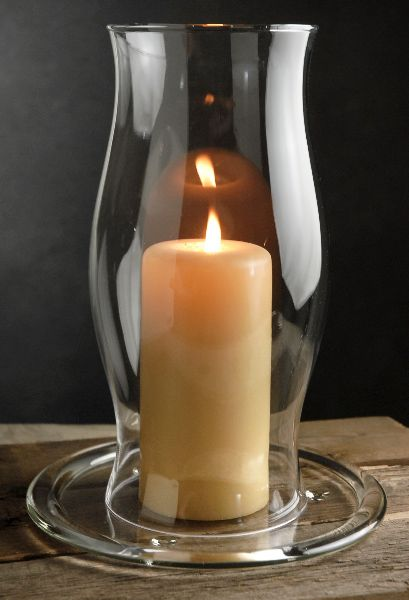 Clear Glass Hurricane Candle Shades 11-1/2 in. $6.99 each / 4 for $6 each