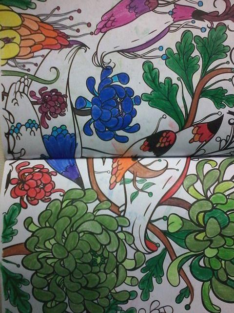 #mandalasyotrosdibujoszenparacolorear #mandala #colorful #colores #blancoynegro #blackandwhite #comparacion. #diferencia #antistresscoloringbook #editorialplaneta #colorear cual lado los gusta mas?