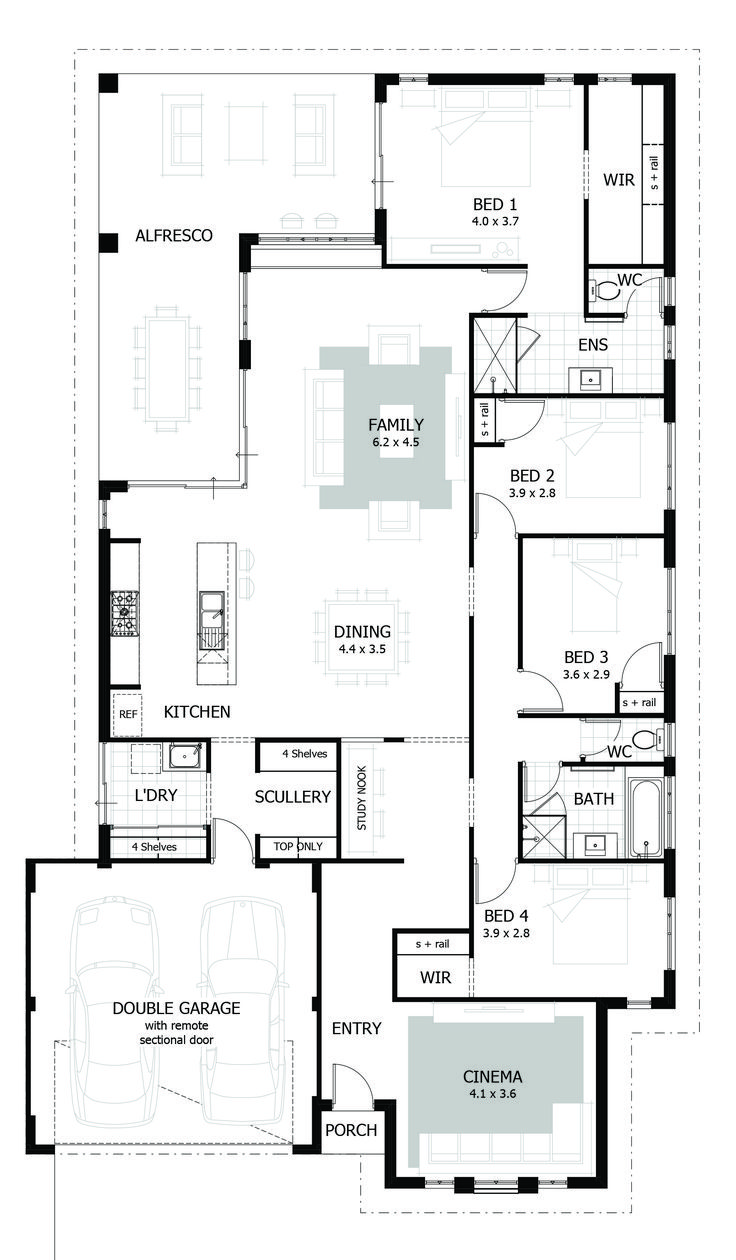 Browse our range of 4 Bedroom House Plans
