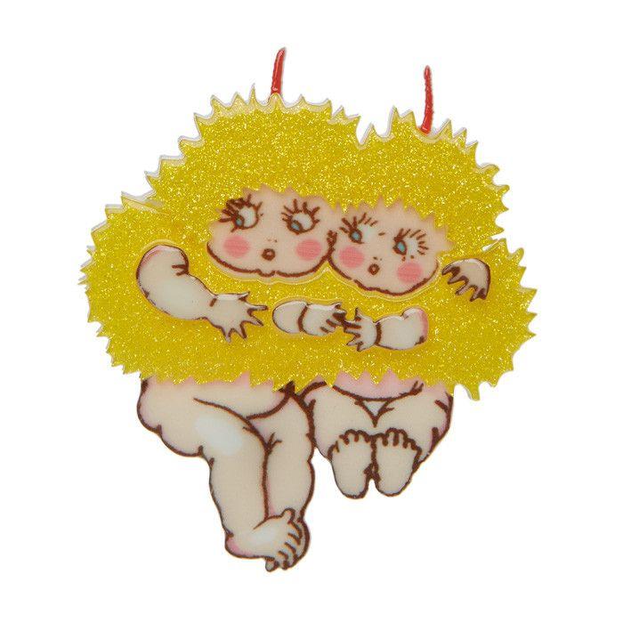 Erstwilder Wattle Babies Brooch