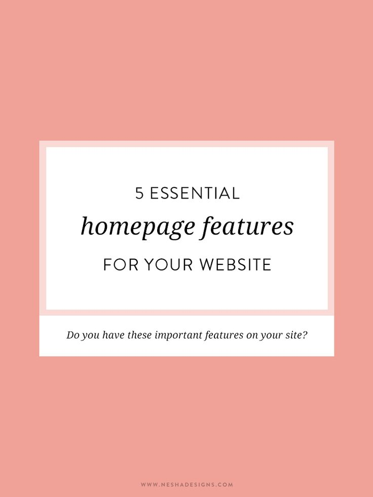 "Loved LisaBaker's guide on what to include in your website—get more specific with Nesha' ""5 Essential Homepage Features for Your Website"""