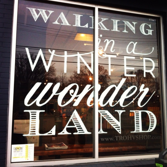 Winter Wonderland window at the DC shop