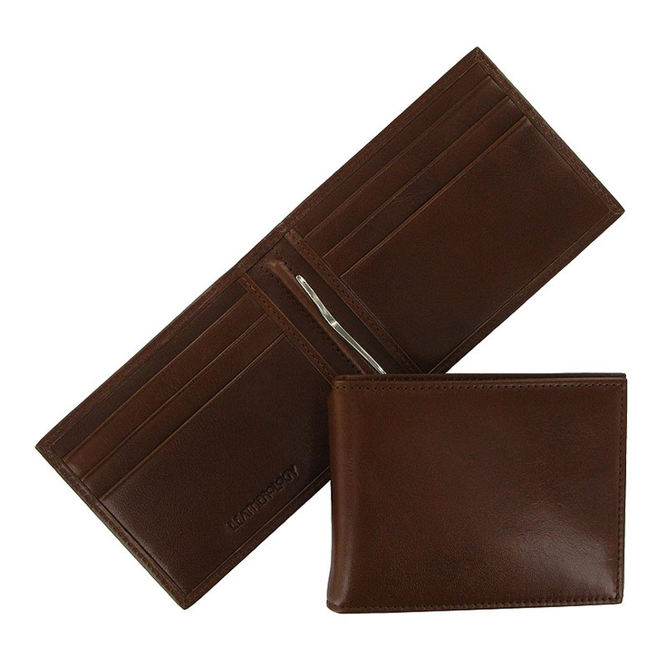 Upgrade with this Men's Slim Leather Wallet with Money Clip