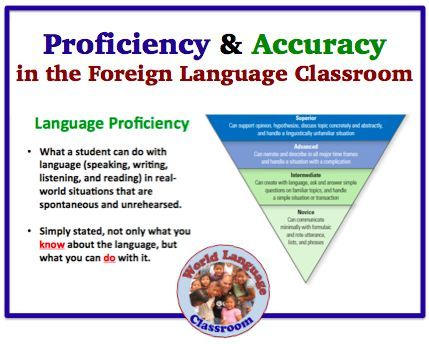 Language Proficiency and Accuracy in the Foreign (World Language Classroom (French, Spanish) http://wlteacher.wordpress.com