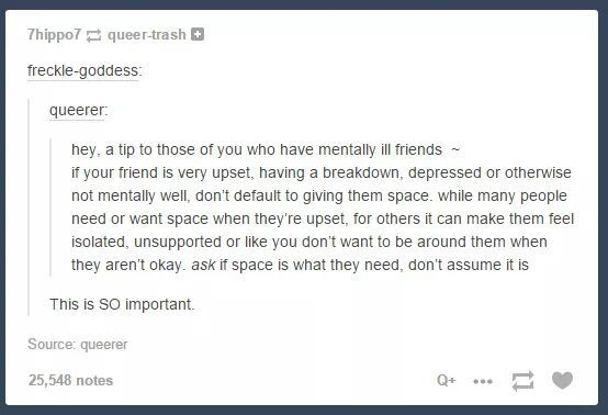 most times i like space. but in specific instances, i need someone to be by my side and i can't be alone