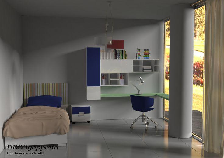 Σύνθεση παιδικού δωματίου , σε συνδυασμό χρωμάτων λάκας