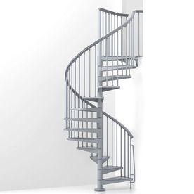 Best Arke Eureka 63 In X 10 Ft Gray Spiral Staircase Kit K21008 640 x 480