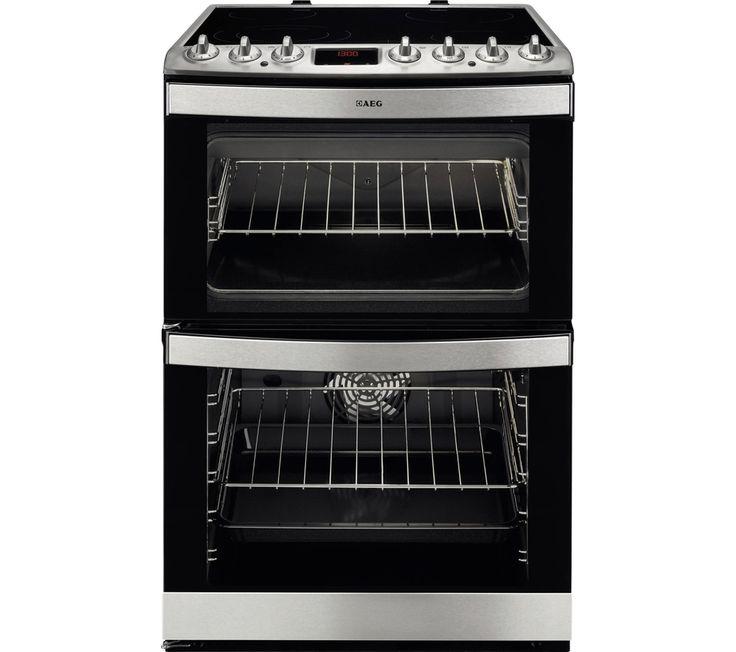 AEG 47102V-MN 60 cm Electric Ceramic Cooker - Stainless Steel