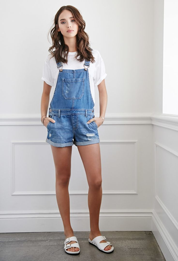 17 Best ideas about Overall Shorts Outfit on Pinterest | Overall shorts Overalls and tumblr Outfits