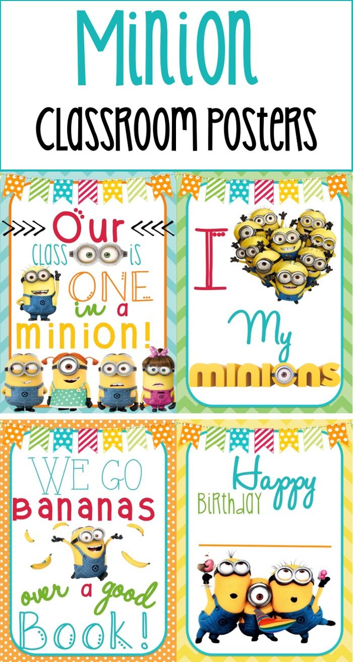 Decorate your minion themed classroom with this adorable poster set! Comes in 2 sizes. 8x11 or 11x17!