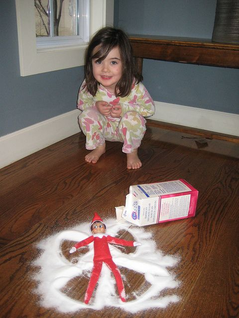 Elf on the shelf ideas - these will come in handy!: Snowangel, Snow Angel, Cute Ideas, Elf On Shelf, Elfonshelf, Shelf Ideas, Elves, Elf On The Shelf, Sugar Angel