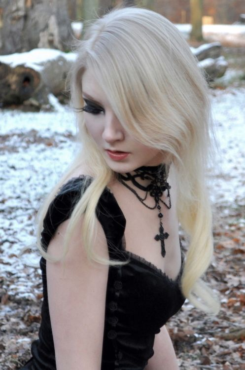 "Goth girl.   Also:  "" Hot Blond"" Goth girl."