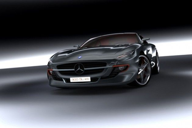 Mercedes 300SL Gull-Winged Bird of Prey Concept by Silmane Toubal (1)