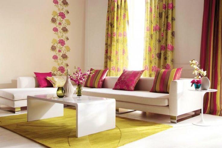 tipos de cortinas amarillo situaciones mesas