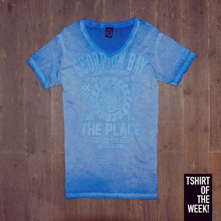 """Stampa """"The Place"""" ad effetto #StoneWash per la #TshirtOfTheWeek di oggi, che ne pensate? Acquistala subito >> http://www.scorpionbay.com/it/store/uomo/t_shirt-e-polo/t_shirt-97262"""