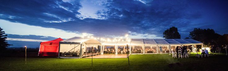 white roof marquee, outdoor timber dance floor, festoon lighting, marquee weddings, south coast weddings, south coast party hire