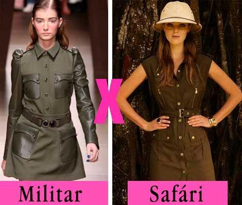 Diferença looks militar e Safári entenda.