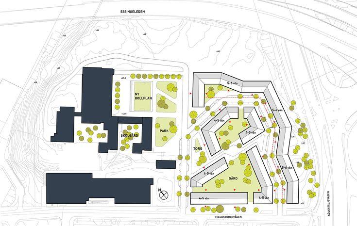 Utopia Arkitekter tagit fram ett bostadsförslag inom fastigheten Herbariet i Midsommarkransen. Projektet med en färgsprakande 270 meter lång fasad som slingrar sig längs med Essingeleden omfattar 375 bostäder, förskolor och en ny stadspark.