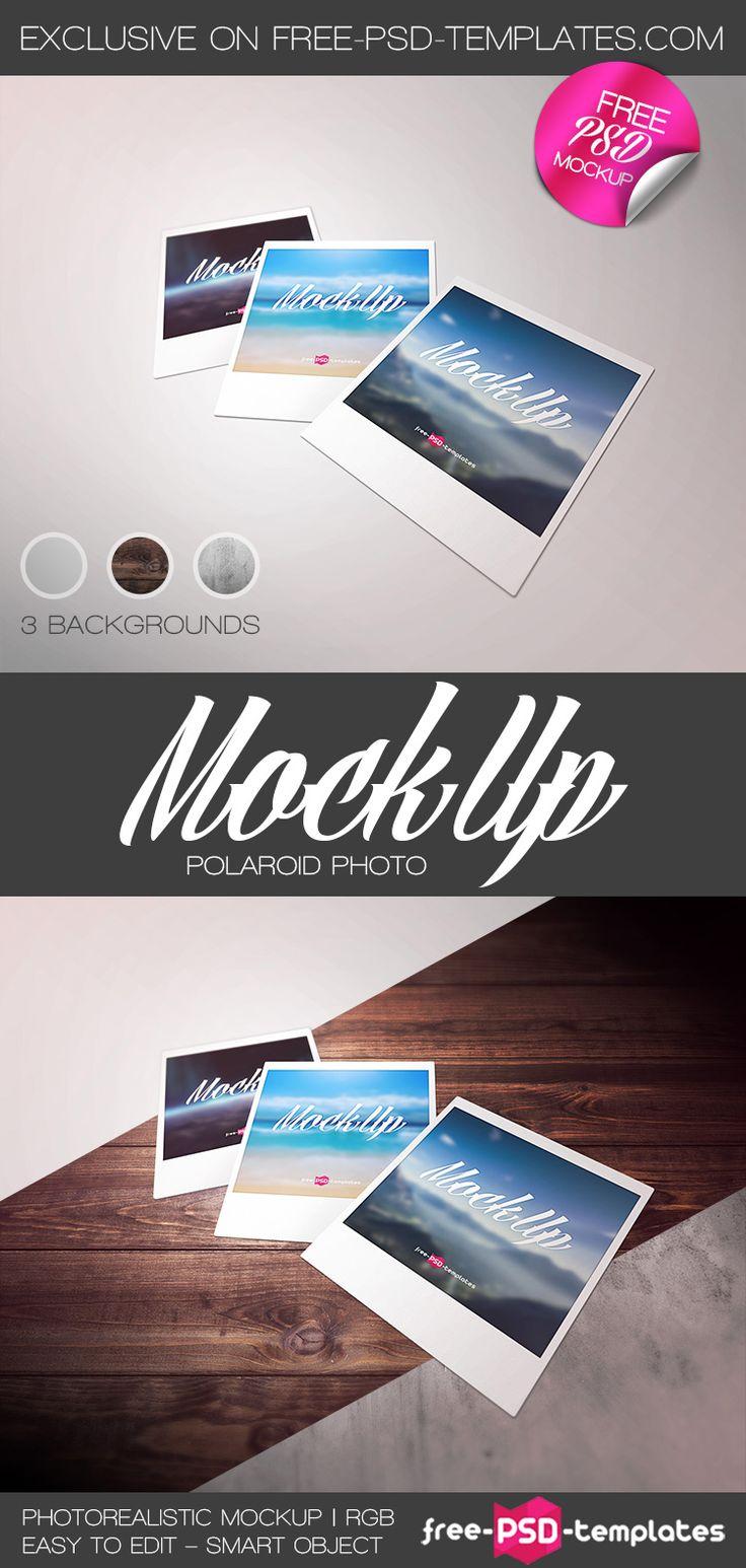 Free Polaroid Photo Mockup PSD   Free PSD Templates   #free #photoshop #mockup…