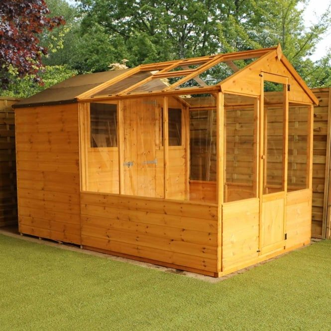 Traditional Apex Combined Greenhouse Shed 10x6 Building A Shed Greenhouse Shed Greenhouse