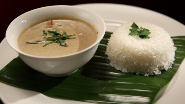 Thai lamb green curry with rice