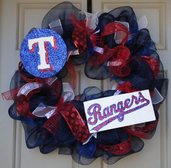 Texas Rangers Wreath: Texas Rangers, Diy Crafts, Rangers Wreath, Rangers Mesh, Rangers Baseball, Team Wreath, Mesh Wreaths, Rangers Baby, Rangers Cowboys