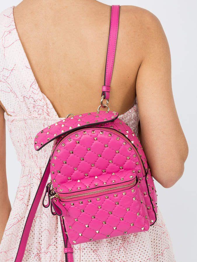dab97deb19 Valentino Rockstud spike mini backpack - The Webster | Valentino Garavani  Rockstud Spike nylon mini backpack