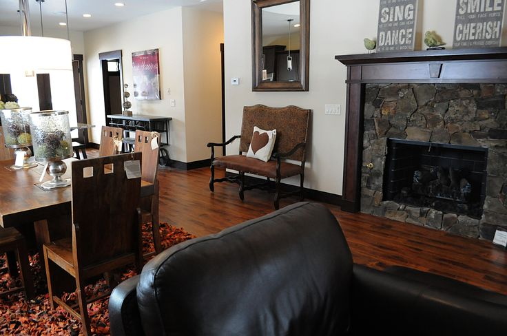 Monogram Homes builds beautiful fireplaces - this one in the Mill River neighborhood, Couer d'Alene, Idaho.