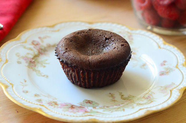 Molten Chocolate Cakes with Sugared Raspberries by From Valerie's ...