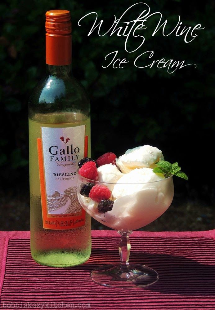 Bobbi's Kozy Kitchen: White Wine Ice Cream for an @GalloFamily #SundaySupper