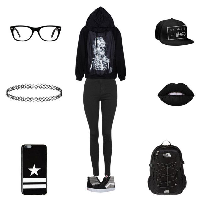 """You Are My Rehab"" by roxas-lightwood ❤ liked on Polyvore featuring Topshop, Vans, Ray-Ban, Givenchy, The North Face and Lime Crime"