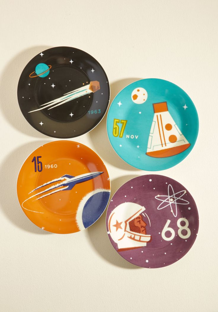 It's Not Chocolate Science Plate Set. Transform your 'once in a blue moon' culinary creations into everyday delights by serving your signature desserts on these ceramic plates. #multi #modcloth