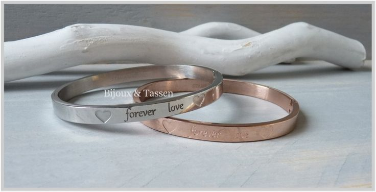 "Quote armband ""Forever Love"" Rose"