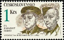 Stamp in memory of Jan Kubiš and Jozef Gabčík