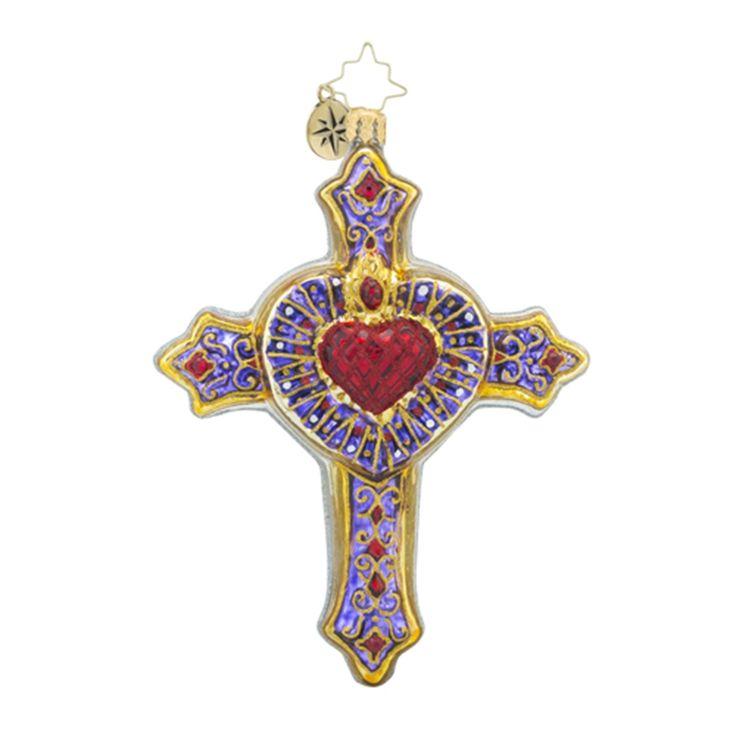 Christopher Radko Religious Ornaments - Radko Angel, Church, Nativity Christmas Ornament