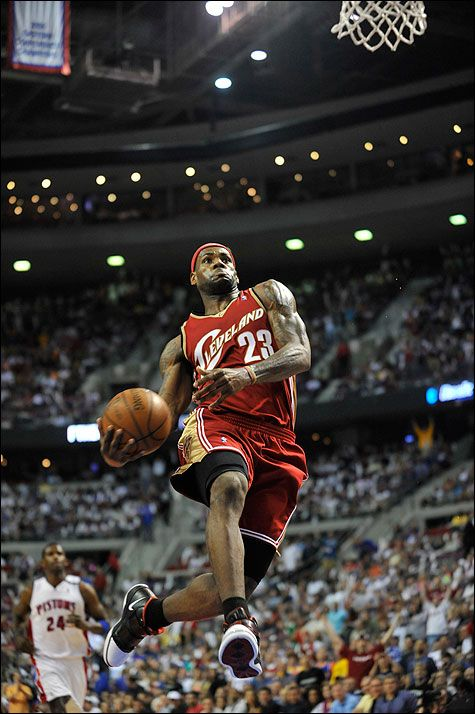 LeBron James,, back  when I respected him as a person,, before the big look at me confrence,  He is still a force to be reckoned with on the court, WHEW