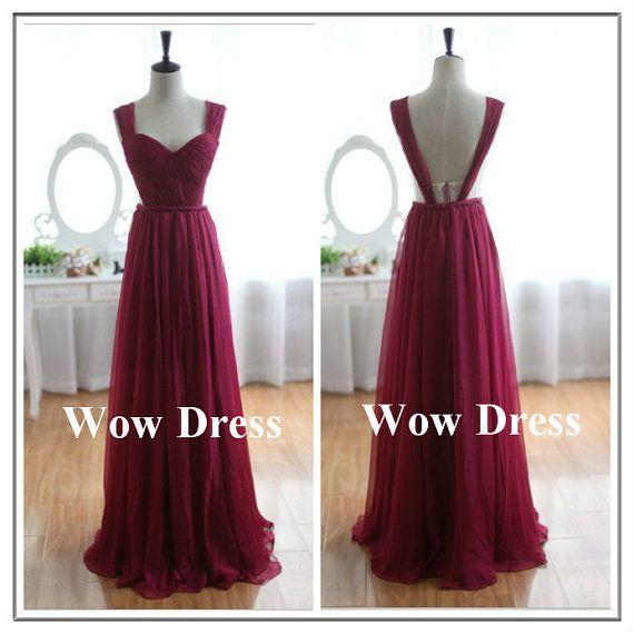 Sexy Prom Dress/ Burgundy Prom Dress/ Backless Prom by WowDress, $88.00