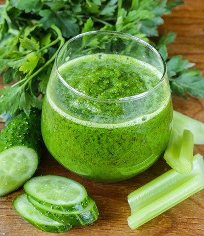 Grüner Shake zum Abnehmen