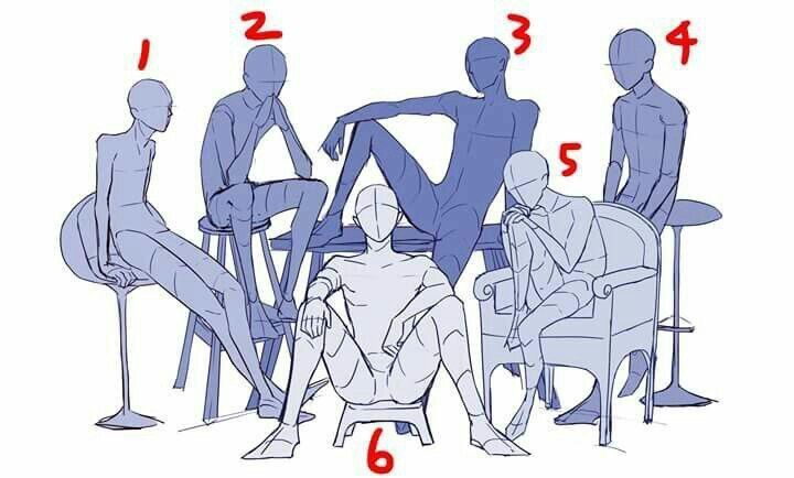 reference pose anime sitting poses drawing character google