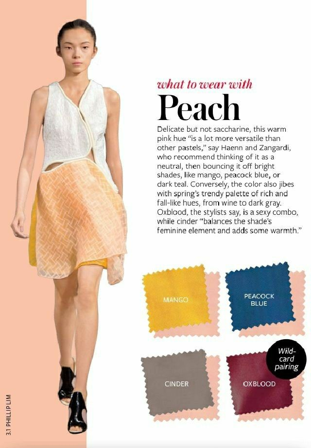 What to wear with PEACH colour