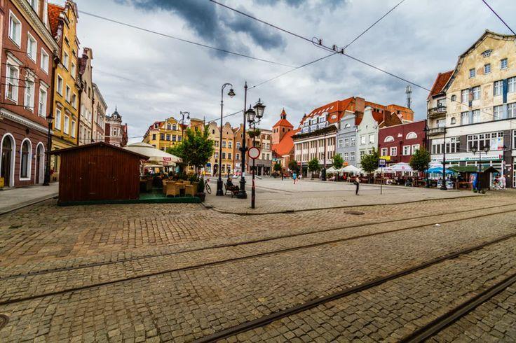 The marketplace in Grudziadz, Poland