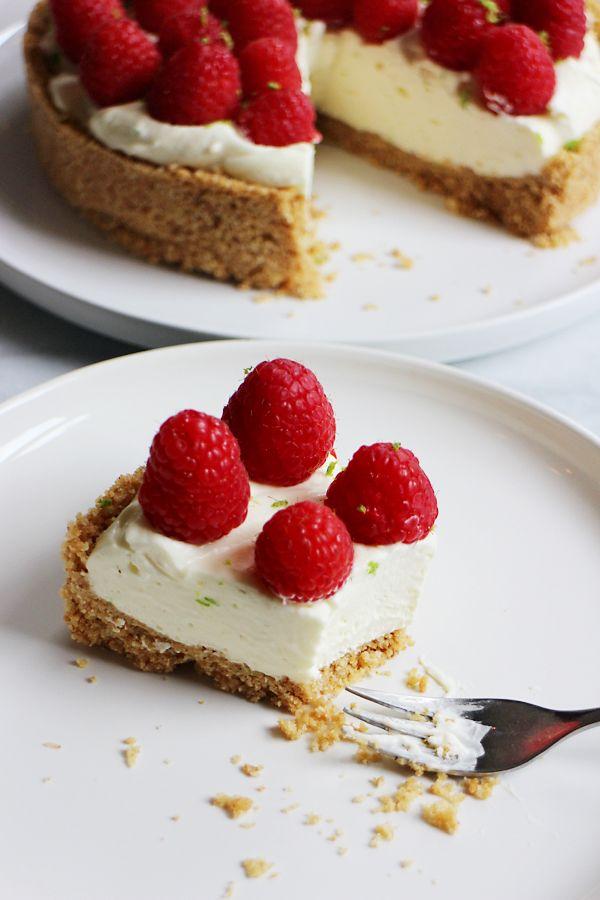Culy Homemade raspberry no-bake cheesecake